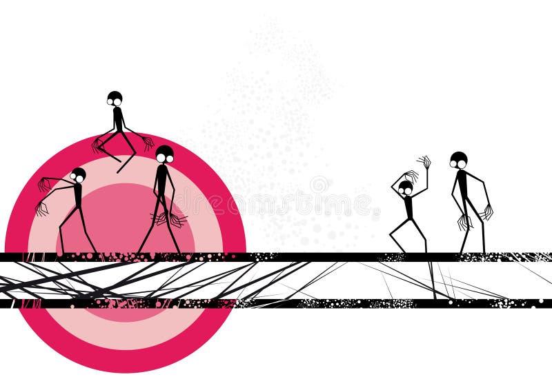 Frontera fantasmagórica del grunge libre illustration