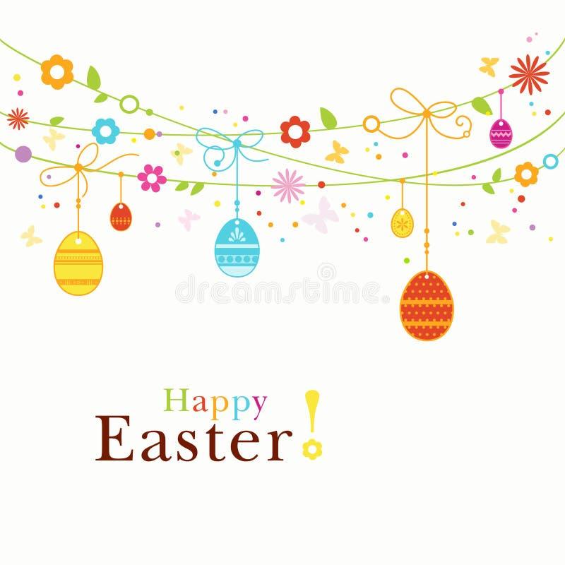 Frontera feliz colorida de Pascua stock de ilustración