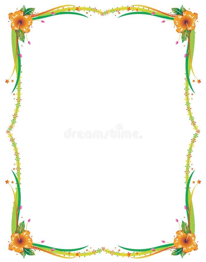 Frontera floral ilustración del vector