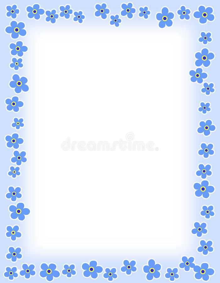 Frontera floral stock de ilustración