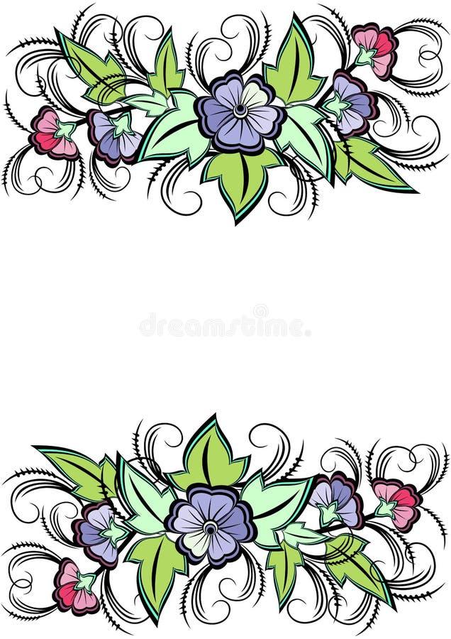 Frontera floral abstracta ilustración del vector