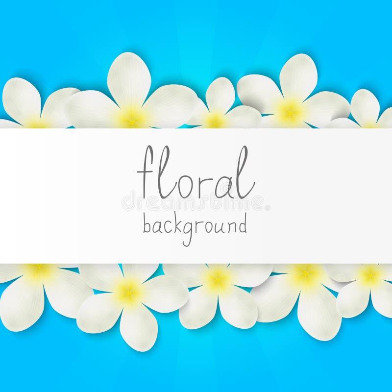 Frontera floral con el lugar para el texto stock de ilustración