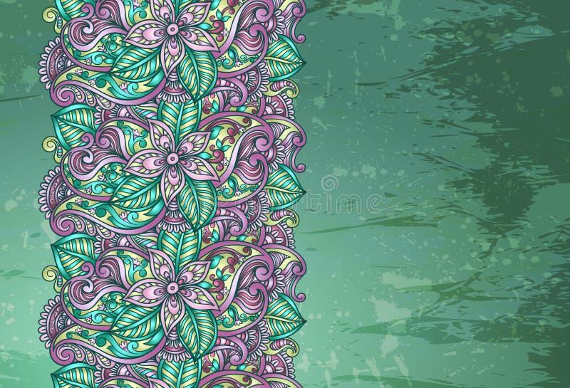 Frontera floral decorativa ilustración del vector