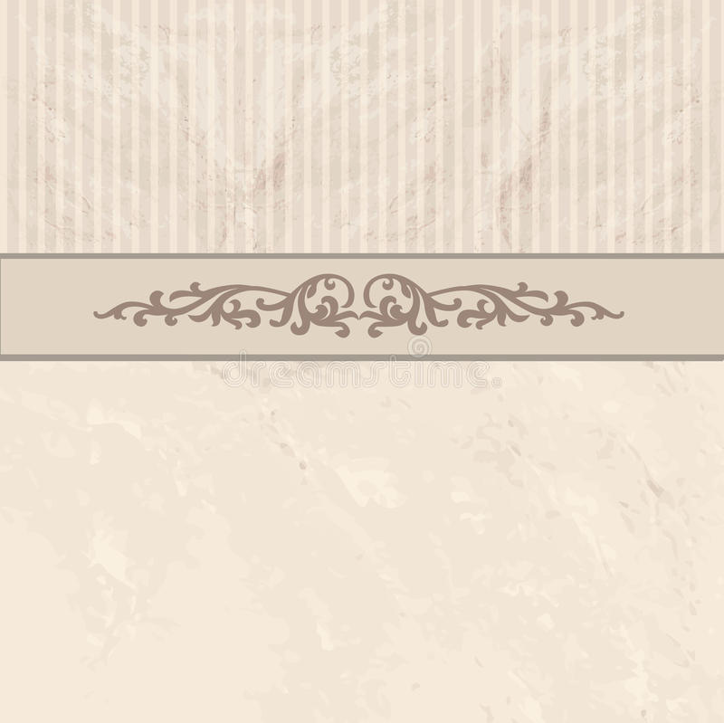 Frontera floral en fondo del vintage Vieja textura de papel libre illustration