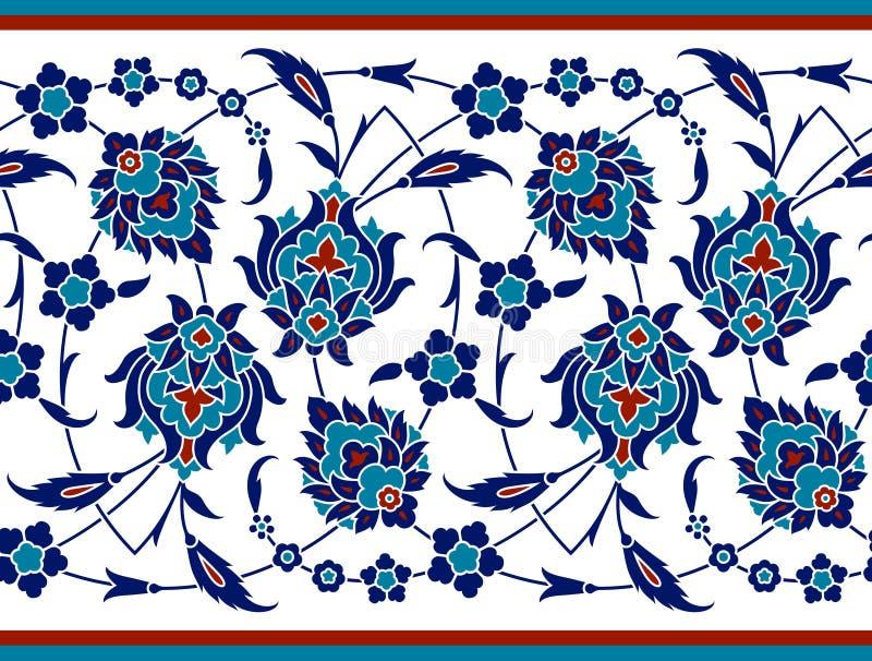 Frontera floral para su diseño Ornamento inconsútil del ï del ¿del otomano turco tradicional del ½ Iznik libre illustration