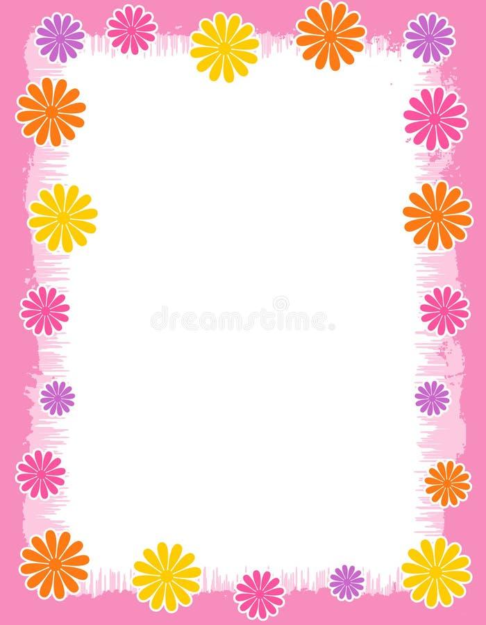 Frontera floral - resorte y verano libre illustration