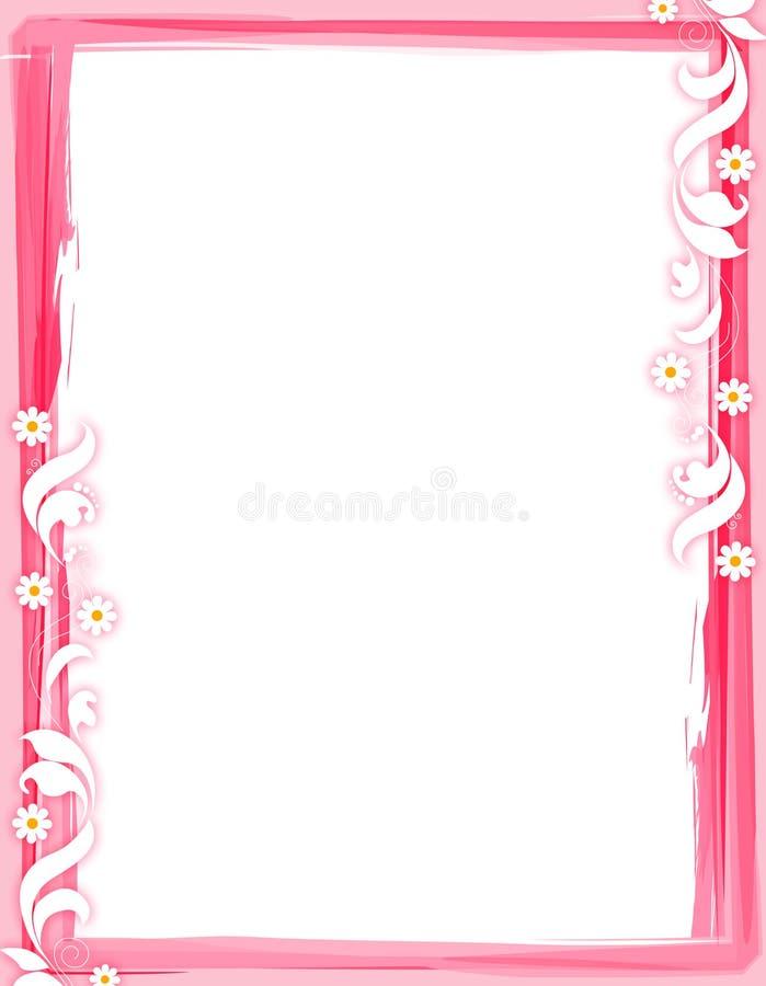Frontera floral - rojo stock de ilustración