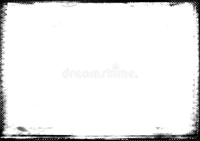 Frontera fotográfica del Gray-scale stock de ilustración