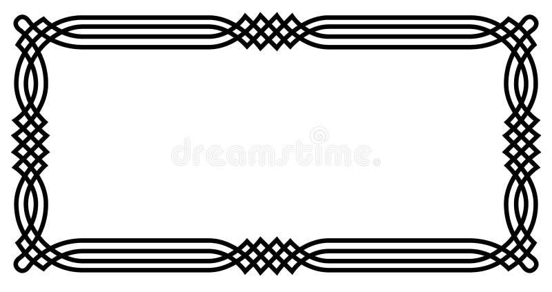 Frontera geométrica céltica stock de ilustración
