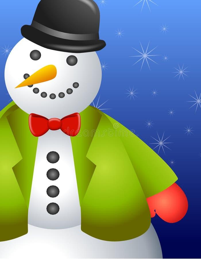 Frontera grande del muñeco de nieve ilustración del vector