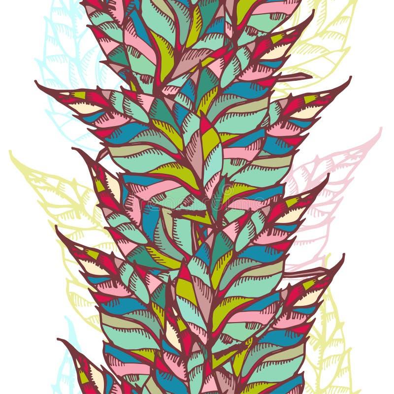 Frontera inconsútil brillante abstracta stock de ilustración