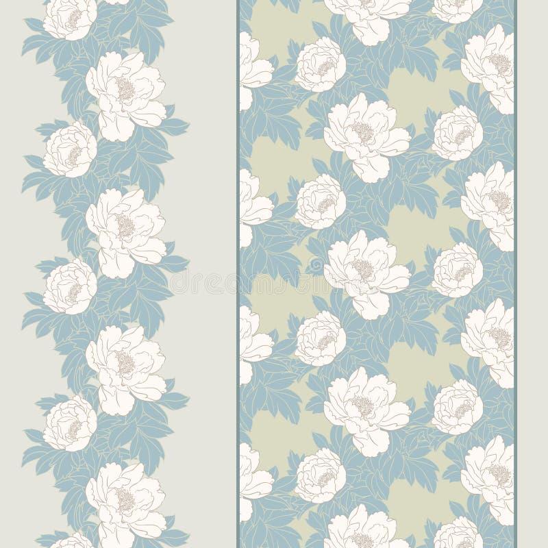 Download Frontera inconsútil floral ilustración del vector. Ilustración de retro - 41900585