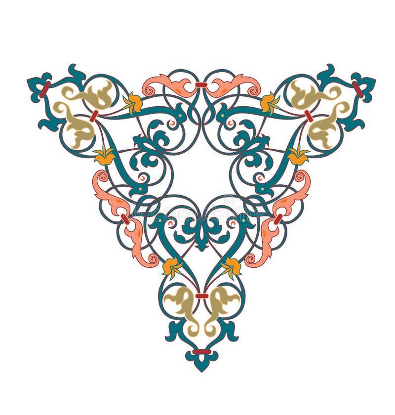 Frontera incons?til floral ?rabe Dise?o isl?mico tradicional Elemento de la decoraci?n de la mezquita - El fichero del vector stock de ilustración