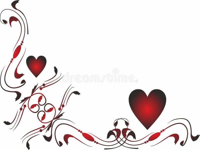 Frontera lateral Valentine Icons para los apps móviles del concepto y del web stock de ilustración
