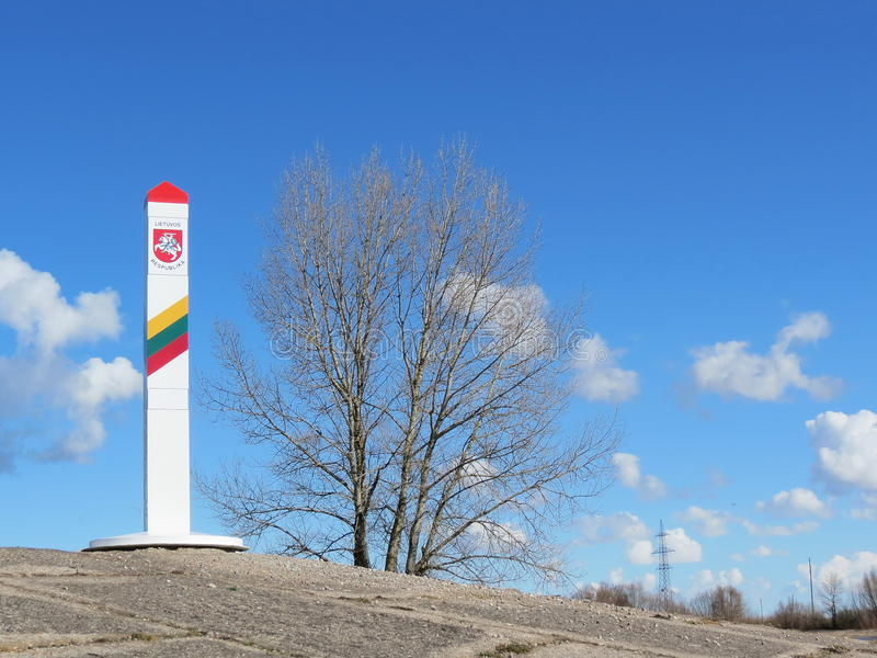 Frontera lituana foto de archivo