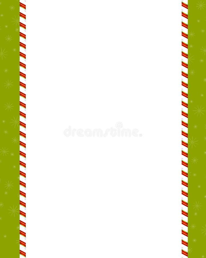 Frontera llana del bastón de caramelo libre illustration