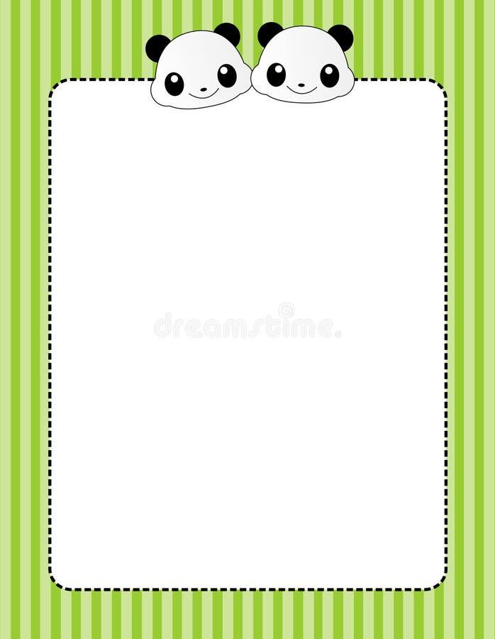 Frontera/marco animales stock de ilustración