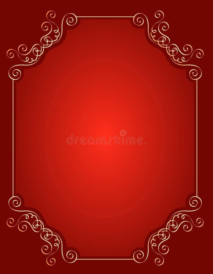 Frontera/marco de la invitación del aniversario de boda ilustración del vector