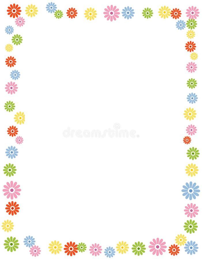 Frontera/marco florales stock de ilustración