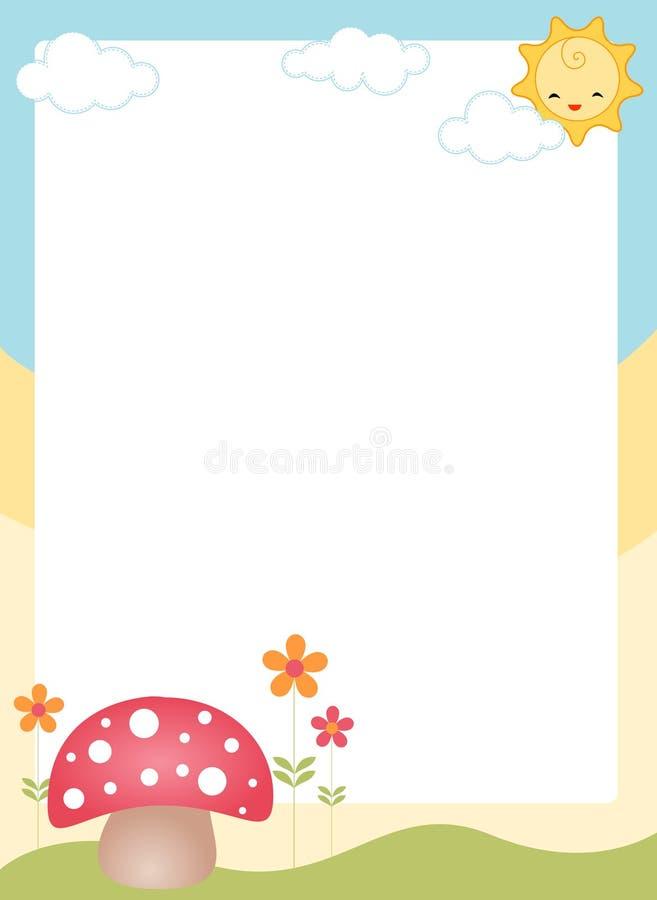Frontera/marco lindos de la primavera libre illustration