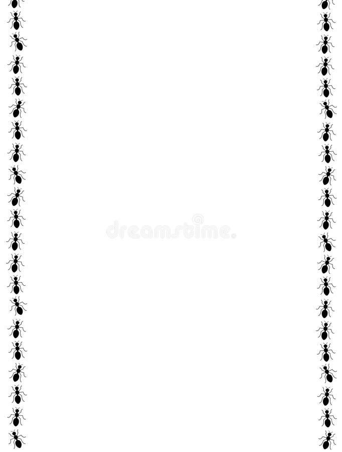 Frontera/marco negros de las hormigas ilustración del vector