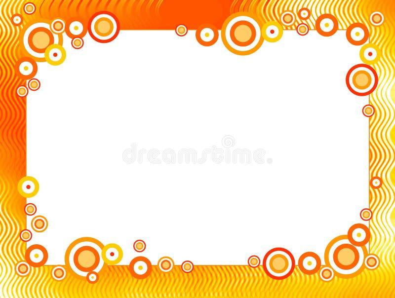 Frontera/marco retros stock de ilustración