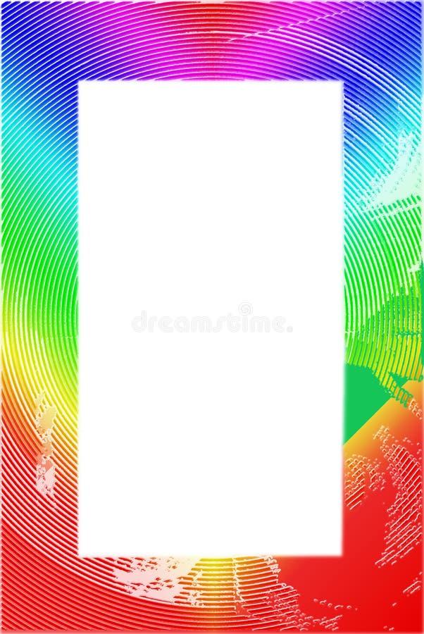 Frontera/marco Textured coloridos ilustración del vector