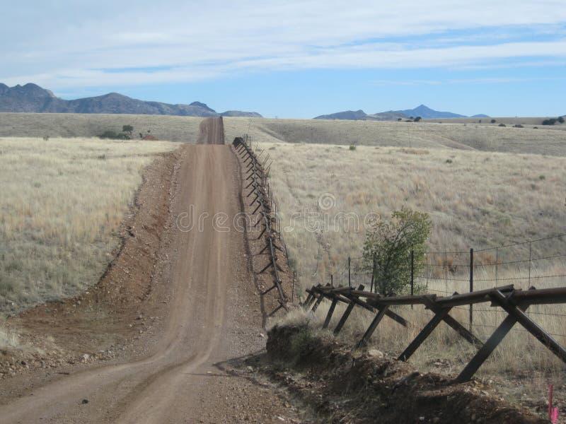 Frontera mexicana imágenes de archivo libres de regalías