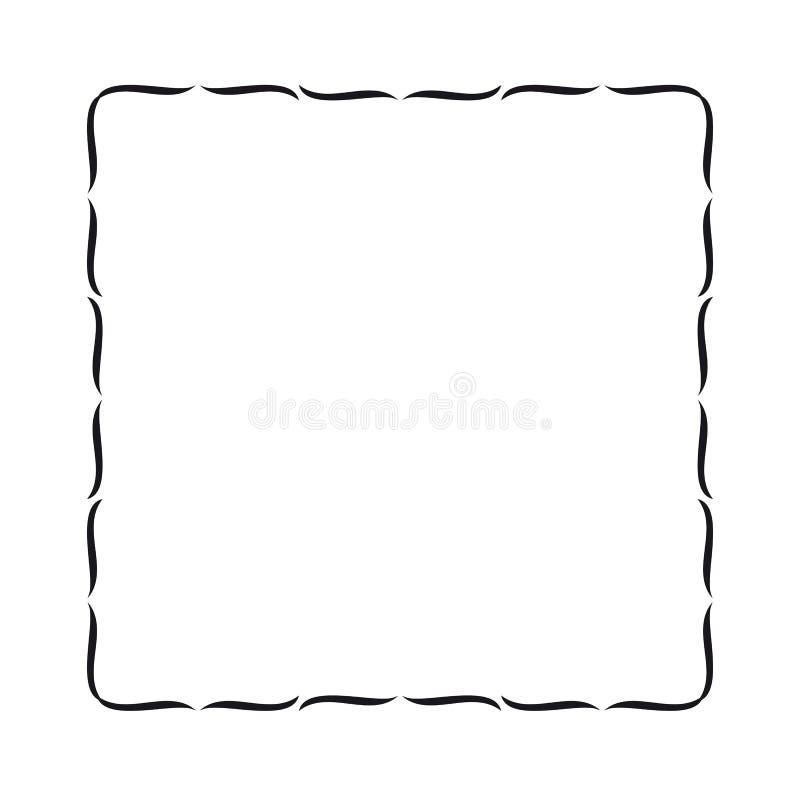 Frontera ondulada simple libre illustration