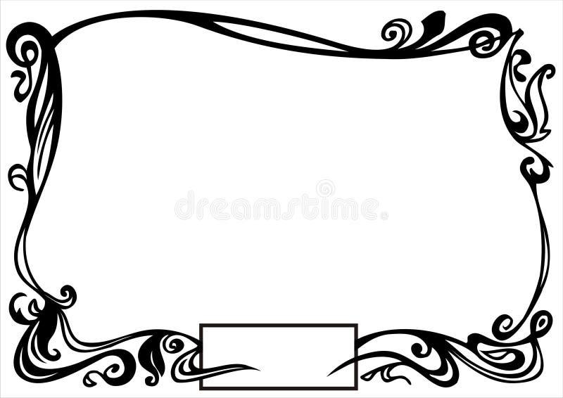 Frontera ornamental stock de ilustración
