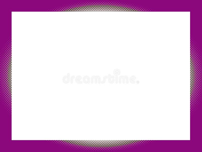 Frontera: Púrpura y entrecruzamiento stock de ilustración