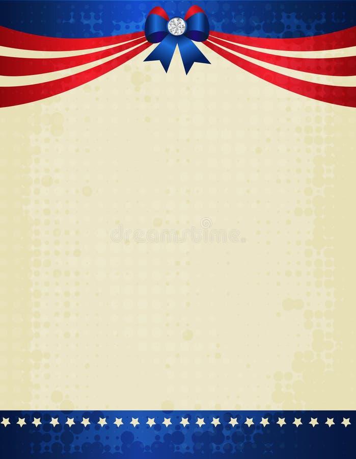 Frontera patriótica ilustración del vector
