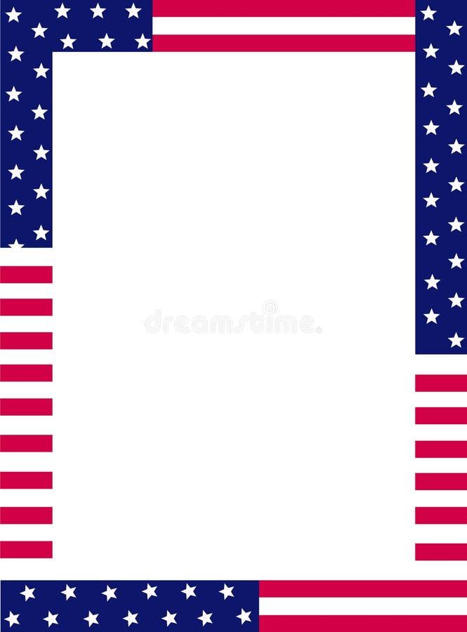 Frontera patriótica stock de ilustración