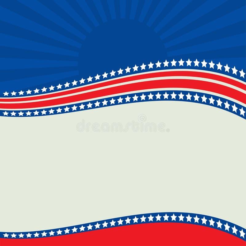 Frontera patriótica americana, fondo, con las estrellas stock de ilustración