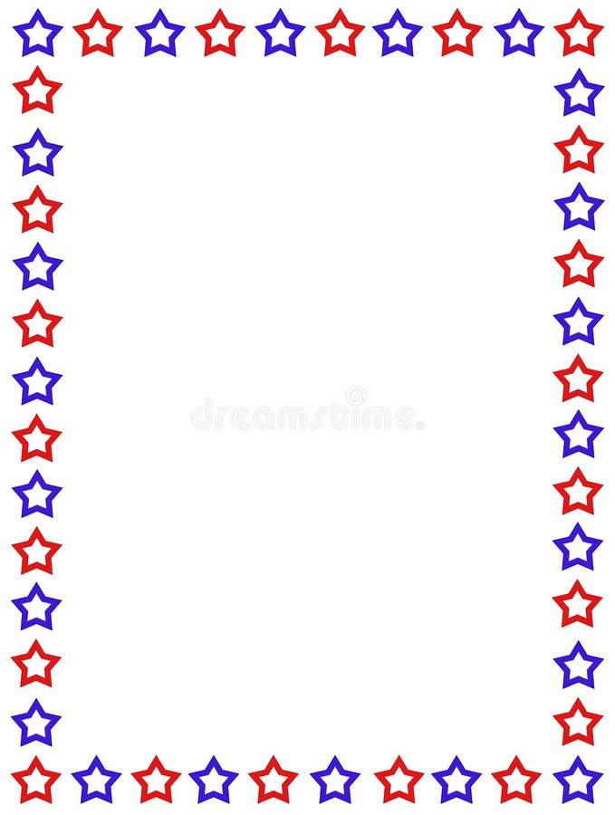 Frontera patriótica los E.E.U.U. stock de ilustración