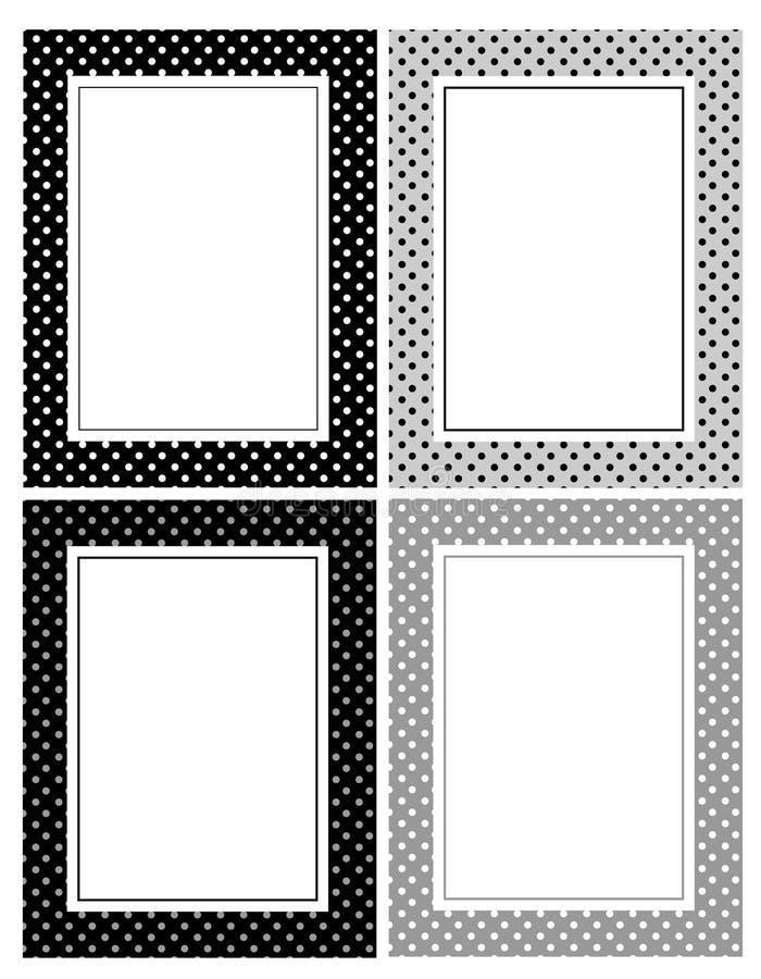 Frontera retra de los puntos de polca stock de ilustración