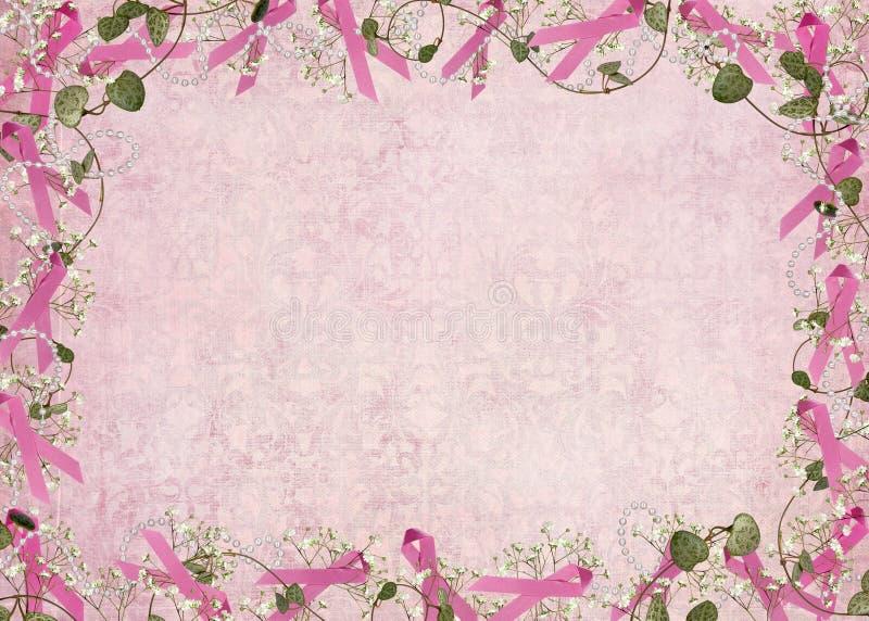 Frontera rosada de la cinta stock de ilustración