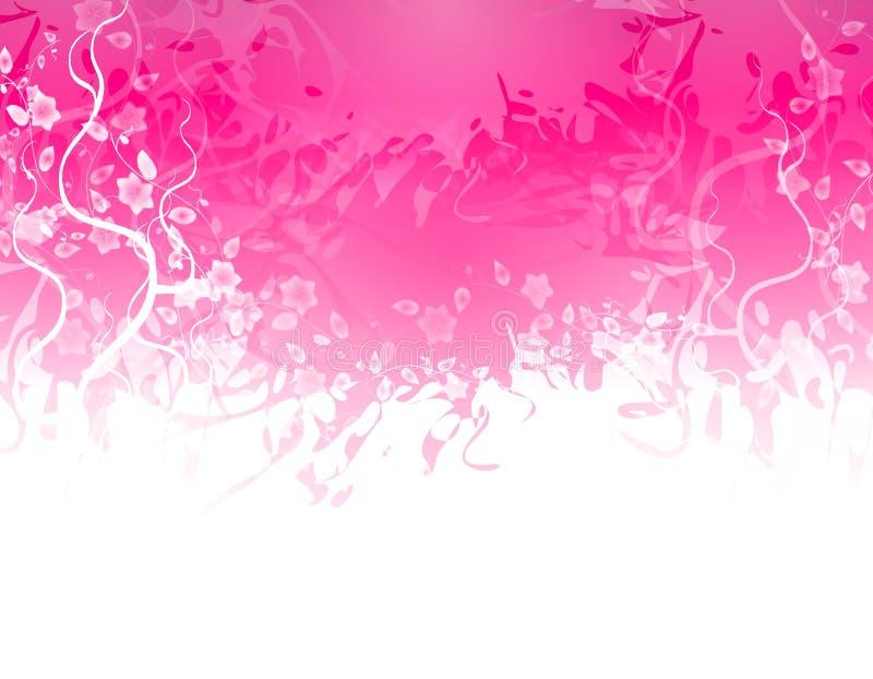 Frontera rosada de la textura de la flor libre illustration