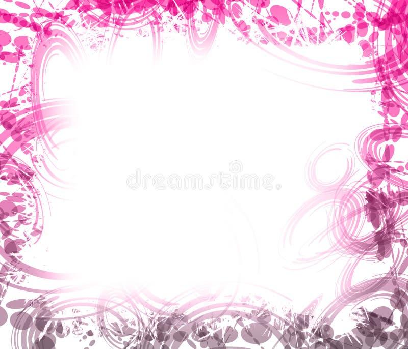 Frontera rosada y púrpura. libre illustration