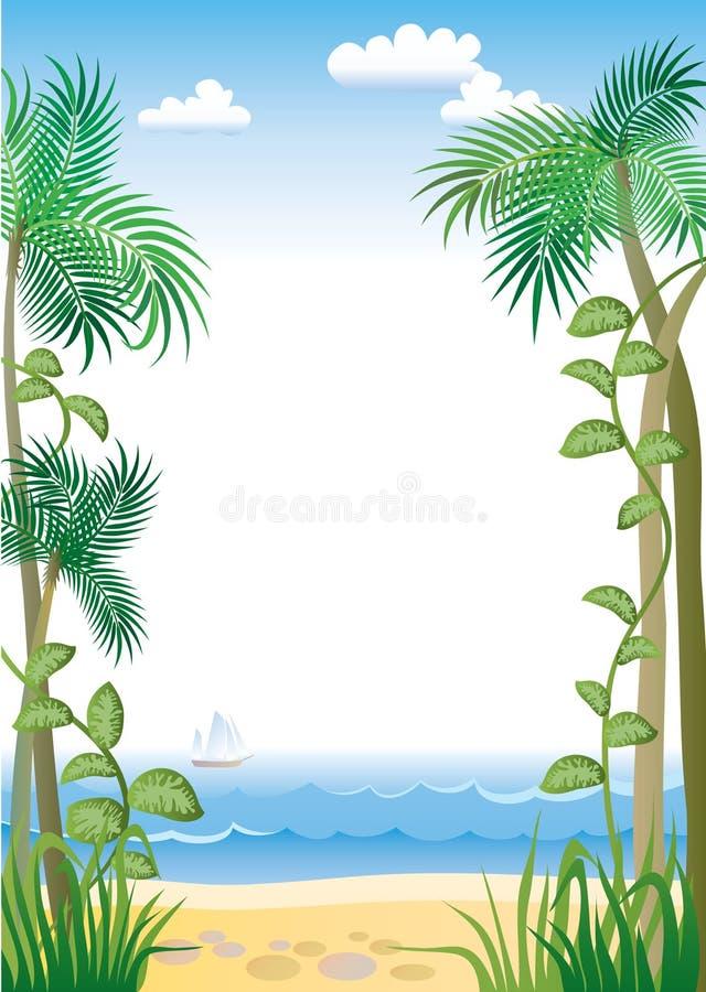 Frontera tropical stock de ilustración