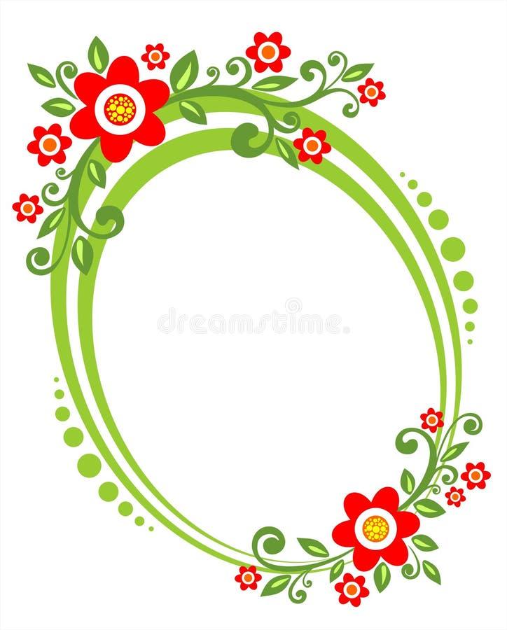 Frontera verde de la flor ilustración del vector