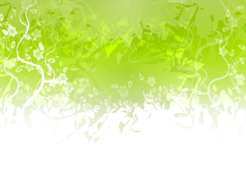 Frontera verde de la textura de la flor ilustración del vector