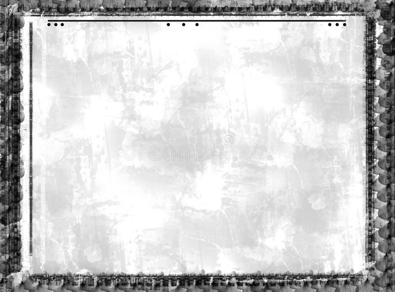Download Frontera y fondo de Grunge stock de ilustración. Ilustración de gris - 1279492