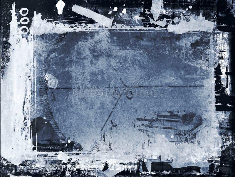 Frontera y fondo de Grunge stock de ilustración