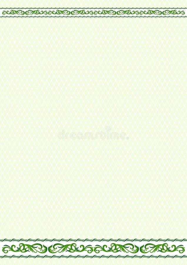 Frontera y terraplén decorativos ilustración del vector