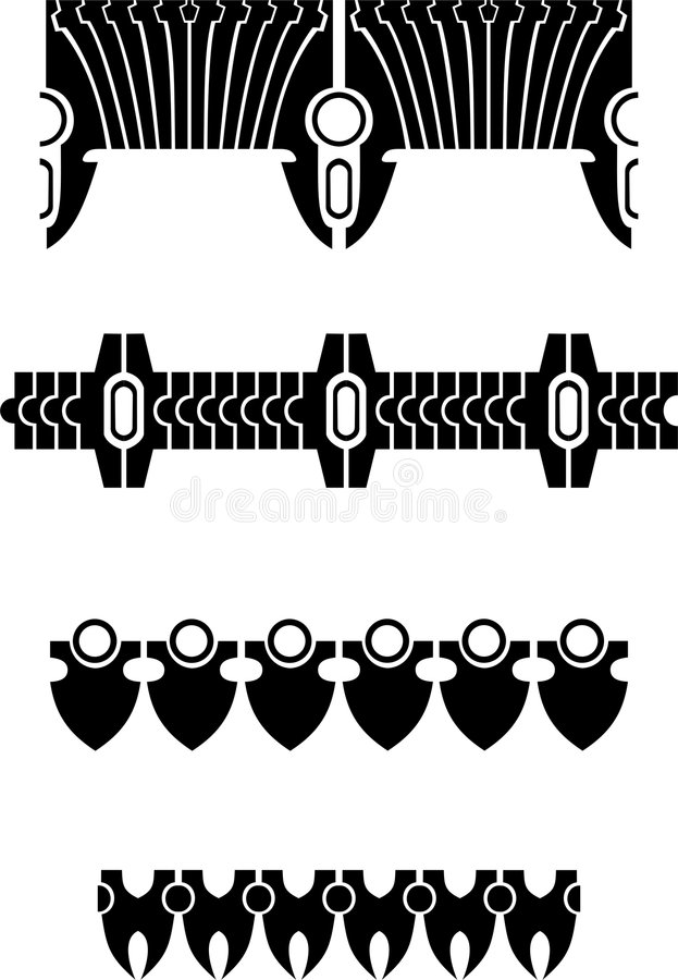Fronteras stock de ilustración