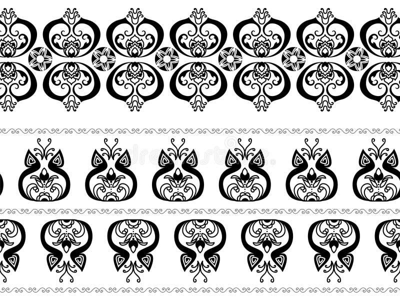 Fronteras abstractas de la alheña libre illustration
