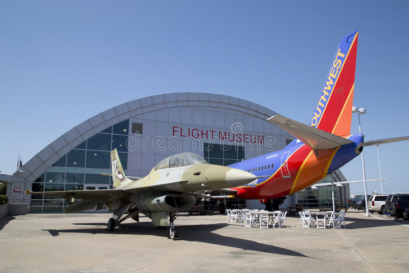 Fronteras agradables del museo del vuelo en Dallas fotos de archivo libres de regalías