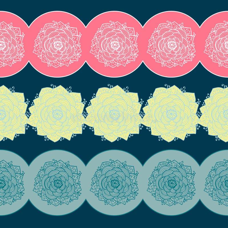 Fronteras con las flores Ilustración del vector libre illustration