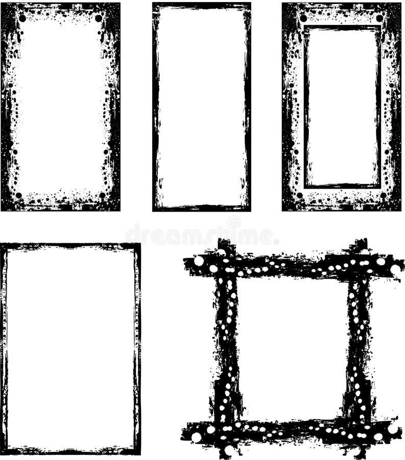 Fronteras de Grunge fijadas libre illustration